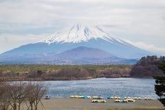 Fujisan and Lake Shoji Stock Images
