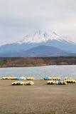 Fujisan and Lake Shoji. At Japan Stock Photography