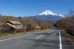 Fujisan at Lake Tanuki. In autumn season royalty free stock image
