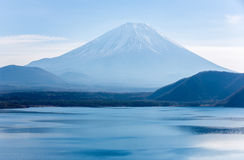 Fujisan with Motosu lake Stock Photography