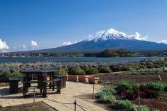 Fujisan Mountain in spring, Kawaguchiko lake, Japan Stock Photos