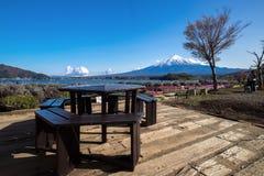 Fujisan Mountain in spring, Kawaguchiko lake, Japan Stock Photo