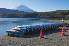 Fujisan przy Jeziornym Saiko Zdjęcia Royalty Free