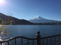 FujiSan with White Hat royalty free stock images
