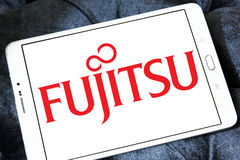 Fujitsuembleem stock foto's