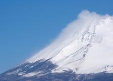 Fujiyama bianco Fotografie Stock