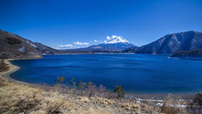 Fujiyama blått Fotografering för Bildbyråer