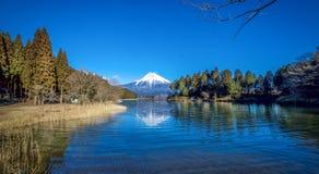 Fujiyama blått Royaltyfri Foto