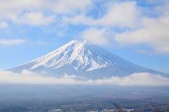 Fujiyama closeup in winter Royalty Free Stock Images