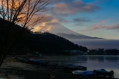 Fujiyama-Morgen Lizenzfreies Stockbild