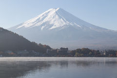 Fujiyama mountain in autumn seanson Stock Images