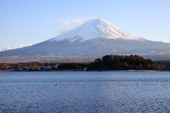 Fujiyama på Kawaguchi sjösidan Royaltyfria Foton