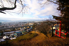 Fujiyama in top view Royalty Free Stock Photography