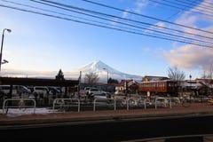 Fujiyama town Royalty Free Stock Image