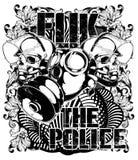 Fuk la police illustration stock