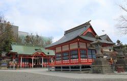 Fukashi寺庙马塔莫罗斯长野日本 免版税库存照片
