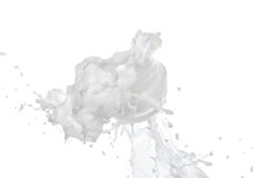 Fukta kräm i det stort mjölka färgstänk Royaltyfri Foto