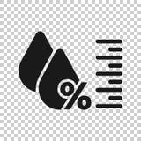 Fuktighetssymbol i genomskinlig stil Klimatvektorillustration p? isolerad bakgrund Temperaturprognosaff?rsid? royaltyfri illustrationer