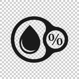 Fuktighetssymbol i genomskinlig stil Klimatvektorillustration p? isolerad bakgrund Temperaturprognosaff?rsid? stock illustrationer