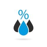Fuktighetsvektorsymbol royaltyfri illustrationer