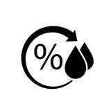 Fuktighetsvektorsymbol stock illustrationer