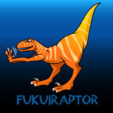 Fukuiraptor cute character dinosaurs Royalty Free Stock Photos