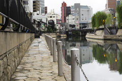 Fukuoka canalside daytime in canal-City Stock Photography