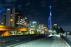 Fukuoka cityscape. Beautiful sightseeing scenery landscape Royalty Free Stock Image