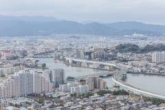 Fukuoka cityscape in Japan Stock Photo