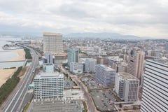 Fukuoka cityscape in Japan Royalty Free Stock Photography