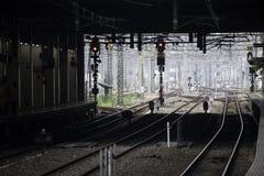 30 08 Fukuoka 2015 japão Estação de caminhos-de-ferro de Hakata Fotografia de Stock