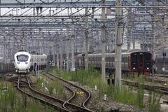 30 08 Fukuoka 2015 japão Trem expresso pela estrada de ferro Compa de Kyushu Foto de Stock Royalty Free