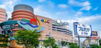 Fukuoka, Japan - Juni 29, 2014: De kanaalstad Hakata is het groot winkelen en een vermaak complex in Fukuoka, Japan Stock Foto