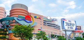 Fukuoka, Japan - 29. Juni 2014: Kanal-Stadt Hakata ist ein großes sho Lizenzfreie Stockfotografie
