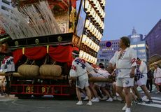 Fukuoka, Japan-May 12, 2017: A float in the With The Kyushu festival Stock Image