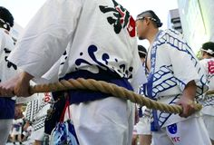 Fukuoka, Japan-May 12, 2017: Participants in the With The Kyushu festival Stock Image