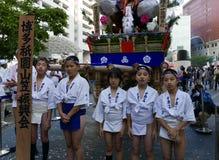 Fukuoka, Japan-May 12, 2017: Participants in the With The Kyushu festival Royalty Free Stock Photos