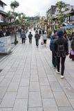 FUKUOKA, JAPAN - NOVEMBER 24, 2015: Street to Dazaifu Tenmangu s Royalty Free Stock Photography