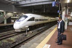 FUKUOKA, JAPAN - OCTOBER 24: Shinkansen in Fukuoka, Japan on Oct Stock Image