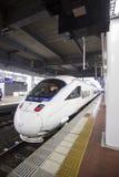 FUKUOKA, JAPAN - OCTOBER 24: Shinkansen in Fukuoka, Japan on Oct Stock Photos