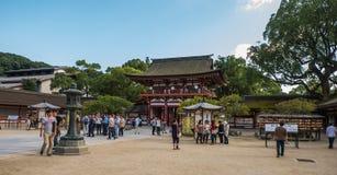 FUKUOKA, JAPAN - SEPTEMBER 26, 2014: Dazaifuheiligdom in Fukuoka, Stock Fotografie