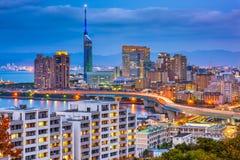 Fukuoka, Japonia linia horyzontu zdjęcie stock