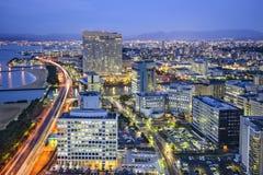 Fukuoka, Japonia linia horyzontu Obraz Royalty Free