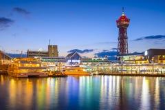 Fukuoka, Japonia nabrzeże linia horyzontu Zdjęcie Royalty Free
