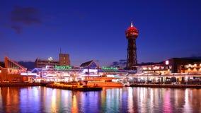 Fukuoka, lungomare del Giappone Fotografia Stock Libera da Diritti