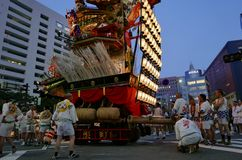 Fukuoka, maj 12, 2017: Pławik w Z Kyushu festiwalem zdjęcie royalty free