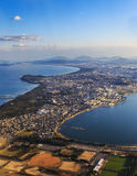 Fukuoka's aerial view Royalty Free Stock Images