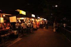 Fukuoka-` s berühmtes Lebensmittel klemmt yatai fest Lizenzfreie Stockbilder