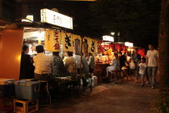 Fukuoka`s famous food stalls yatai Stock Photo