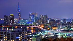 Fukuoka-Stadtbild Stockbilder
